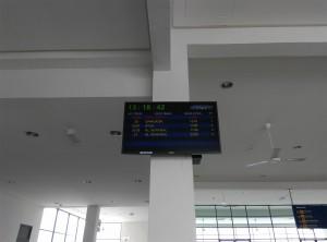 Табло прибытия поездов на вокзал Butterworth