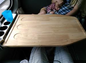 Столик в поезде Малайзия-Таиланд